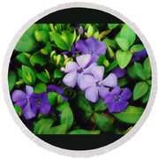 Vinca Round Beach Towel