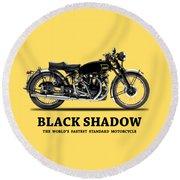 Vincent Black Shadow Round Beach Towel