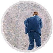 Vincent Coming Into The Light Round Beach Towel