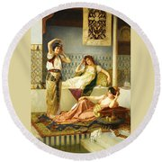 Vincent Stiepevich In The Harem Round Beach Towel