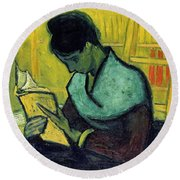 Vincent Van Gogh  A Novel Reader Round Beach Towel