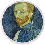Vincent Van Gogh Self-portrait 1889 Round Beach Towel