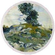 Vincent Van Gogh, The Rocks Round Beach Towel