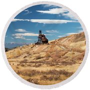 Vindicator Valley Mine Trail Round Beach Towel