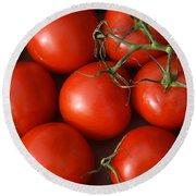 Vine Ripe Tomatoes Fine Art Food Photography Round Beach Towel