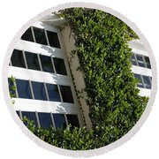 Vines And Glass Round Beach Towel