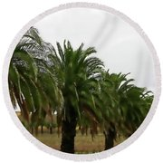 Vinescape Round Beach Towel