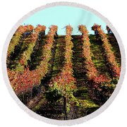Vineyard 27 Round Beach Towel