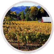 Vineyard 4 Round Beach Towel