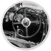 Vintage Aston Martin Dashboard Round Beach Towel