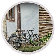 Vintage Bicycles The Journey Round Beach Towel