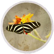 Vintage Butterfly Round Beach Towel