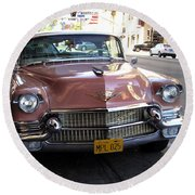 Vintage Cadillac. Luxury From The Past Round Beach Towel