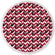 Vintage Camera Chevron Round Beach Towel