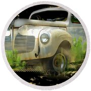 Vintage Car 29 Round Beach Towel