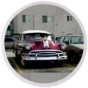 Vintage Car From 1940's Era Round Beach Towel