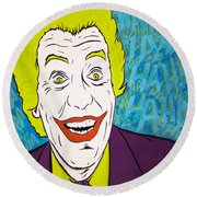 Vintage Cesar Romero's Joker Round Beach Towel