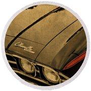 Vintage Chevrolet Chevelle Hood Round Beach Towel