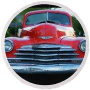 Vintage Chevy Pickup Truck Round Beach Towel