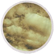 Vintage Cloudy Sky. Old Day Background Round Beach Towel