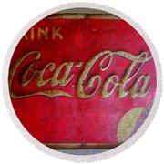 Vintage Coca-cola Sign Round Beach Towel