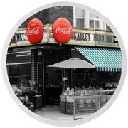 Vintage Coca Cola Signs Round Beach Towel