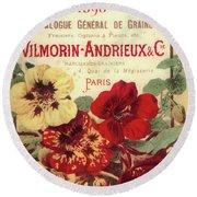 Vintage Flower Seed Cover Paris Rare Round Beach Towel
