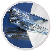 Vintage Flying Lady Hood Ornament Round Beach Towel