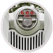 Vintage Ford 600 Nameplate Emblem Round Beach Towel