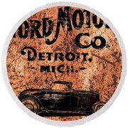 Vintage Ford Motor Company Round Beach Towel