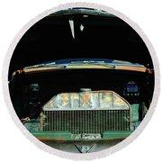 Vintage Ford Pickup Truck Round Beach Towel