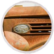 Vintage Ford Truck Round Beach Towel