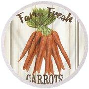 Vintage Fresh Vegetables 3 Round Beach Towel