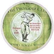 Vintage Golf Green 2 Round Beach Towel