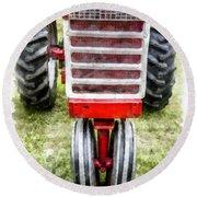 Vintage International Harvester Tractor Round Beach Towel