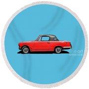 Vintage Italian Automobile Red Tee Round Beach Towel