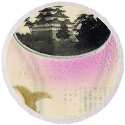 Vintage Japanese Art 27 Round Beach Towel