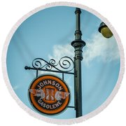 Vintage Lamp And Sign Round Beach Towel