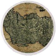 Vintage Map Of Ireland 1771 Round Beach Towel