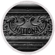 Vintage National Cash Register Round Beach Towel