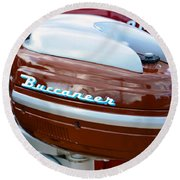 Vintage Outboard 2 Round Beach Towel