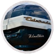 Vintage Evenrude Outboard  Round Beach Towel