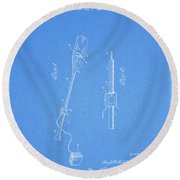 Vintage Paddle Patent Round Beach Towel