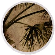 Vintage Palm Round Beach Towel