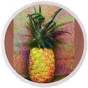 Vintage Pineapple Round Beach Towel