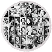 Vintage Portrait Photos Depict Womens Hairstyles Of The 1930s  - Doc Braham - All Rights Reserved. Round Beach Towel