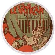 Vintage Poster - Vatican Galantara Round Beach Towel