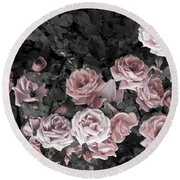 Vintage Roses In Pink 2  Round Beach Towel