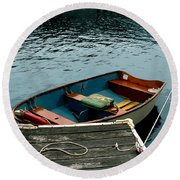 Vintage Rowboat Round Beach Towel