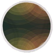 Vintage Semi Circle Background Horizontal Round Beach Towel